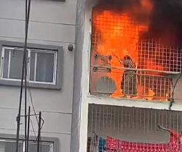 マンションの火事で逃げ場を失い生きたまま燃える女性の一部始終