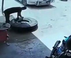 タイヤの空気圧の調整をミスると空飛ぶとか聞いてないよ…