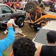 ラリークロスのレースで観客に突っ込み男性が亡くなる事故が発生…