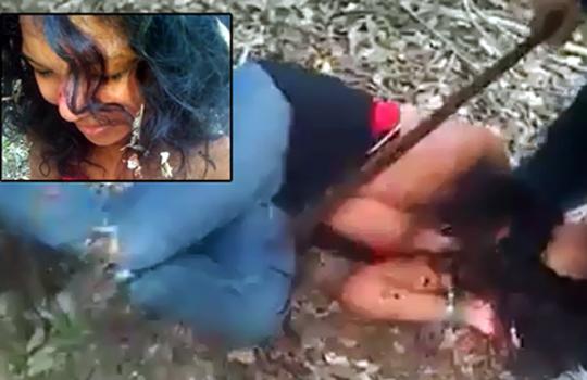 【グロ動画:鳥肌】セタスに協力した少女の首を切り、素手で引き千切ろうとするカルテル構成員の男